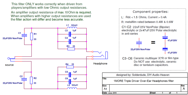 1MTDOE filter schematic