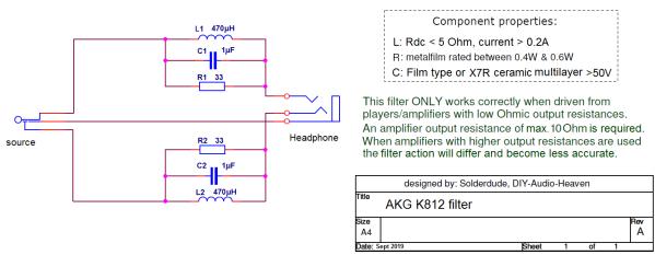 K812 filter schematic