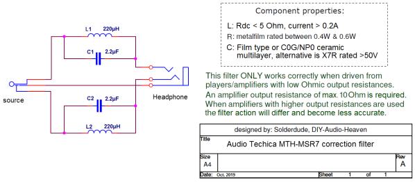 MSR7 filter schematic
