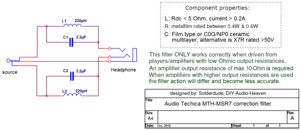 MSR7 filter schematic