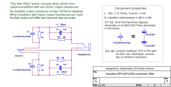 MT220 filter schematic