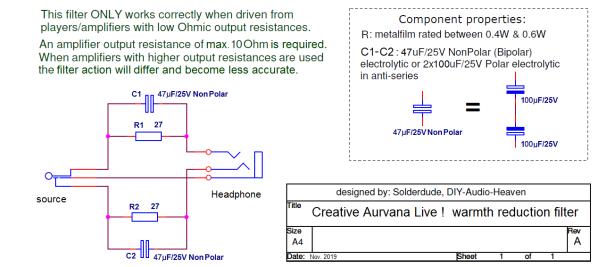 CAL filter schematic