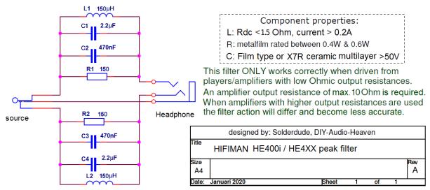 HE400i (HE4XX) filter schematic
