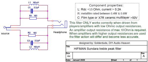 Sundara filter schematic
