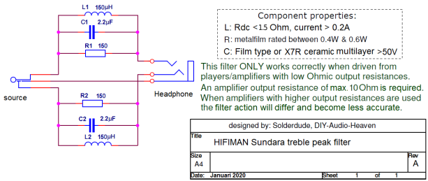 Sundara filter schematic