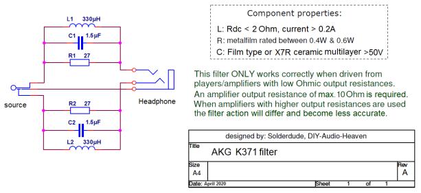 K371 filter schematic