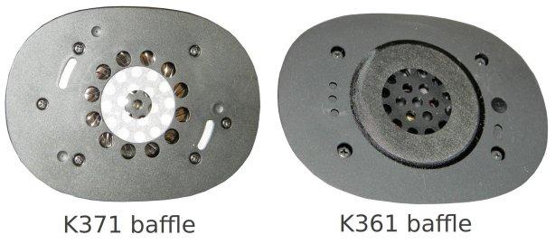 K371 vs K361 baffle