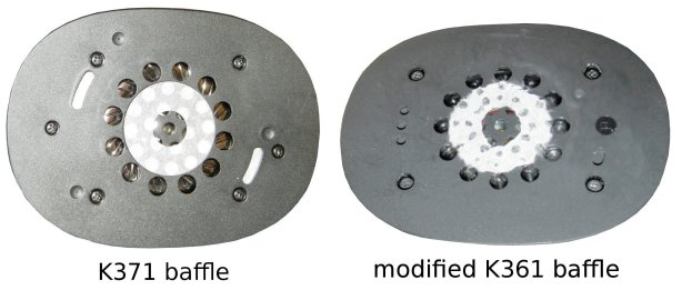 K371 vs mod K361 baffle