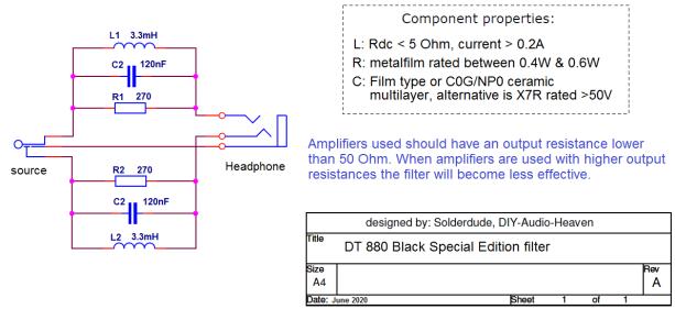 DT880 Black filter schematic