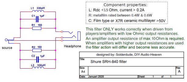 SRH-840 filter schematic