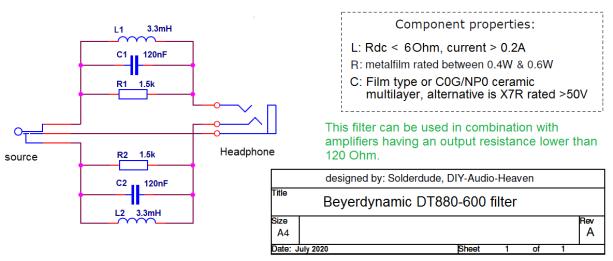 DT880-600 filter schematic