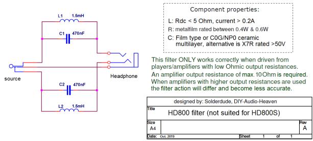 HD800 filter schematic