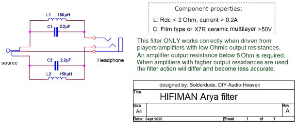 Arya filter schematic