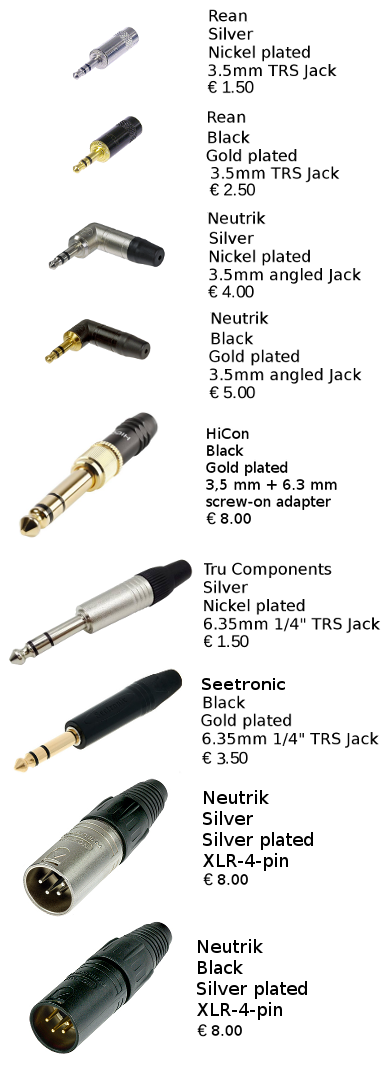 connectors pricing plugs