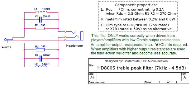 HD800S filter schematic