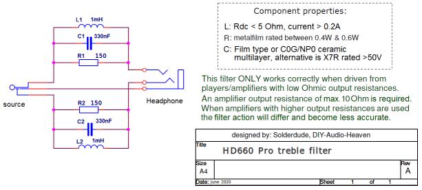 HD660Pro filter schematic