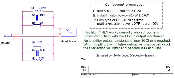 HD330 filter schematic