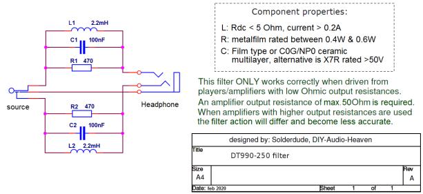 DT990-250 filter schematic
