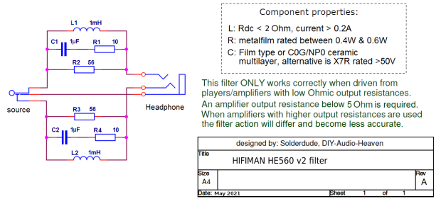 HE560v2 filter schematic