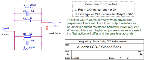 LCD2 closed filter schematic