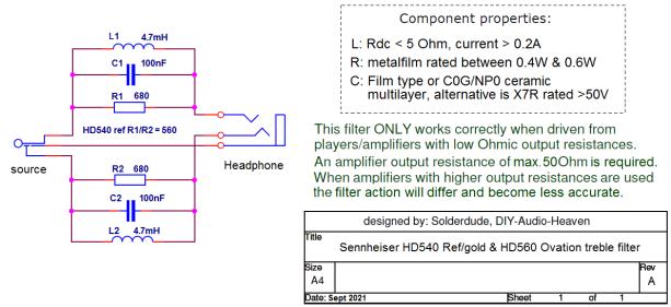 HD540-560 filter schematic